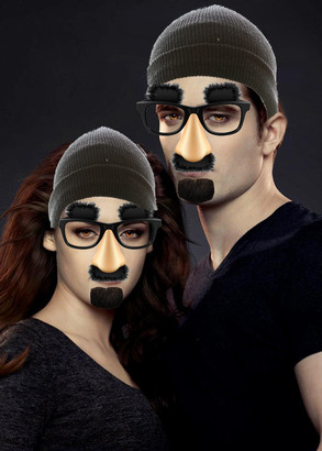 Edward and Bella disguised 2