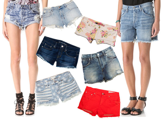 Jean Shorts Collage