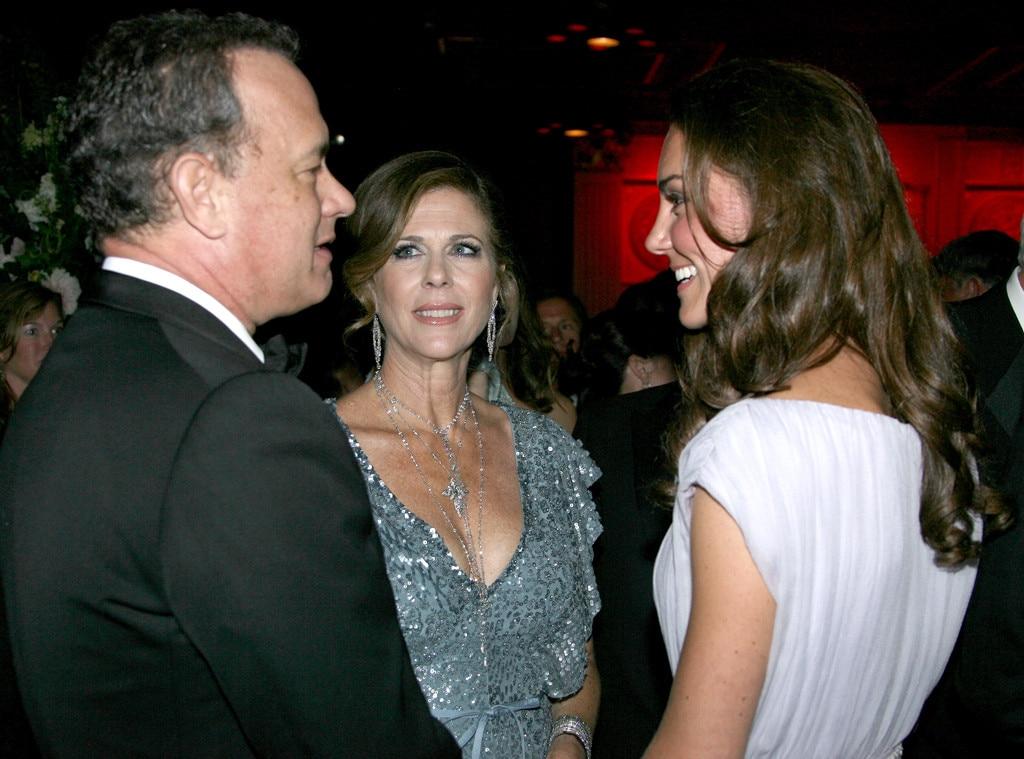 Catherine, Duchess of Cambridge, Tom Hanks, Rita Wilson