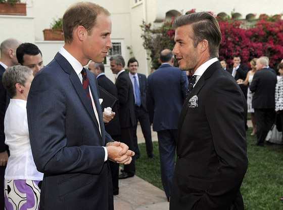 Prince William, David Beckham