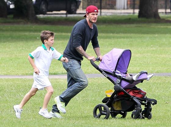 David Beckham, Cruz Beckham, Harper Beckham