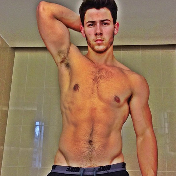 Nick Jonas, Shirtless, Instagram