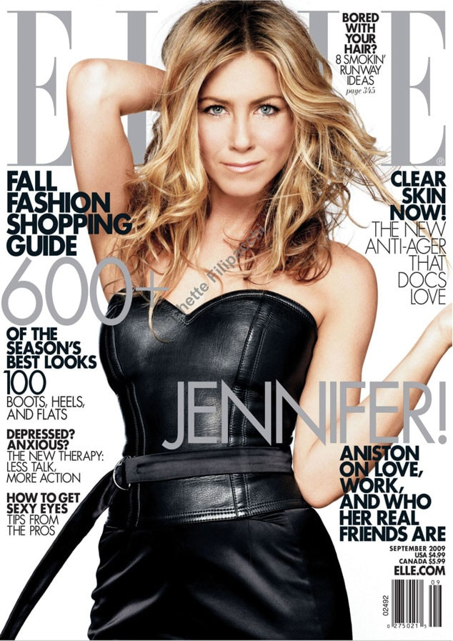 Elle September 2009 From Jennifer Aniston 39 S Best Magazine Covers E News