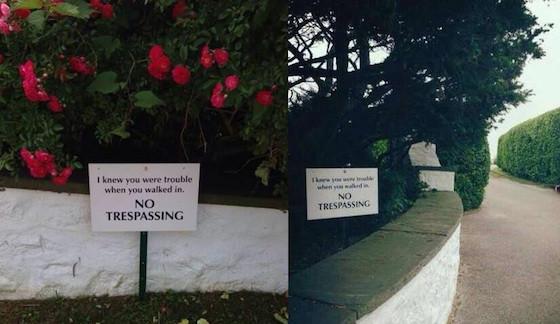 Taylor Swift, no trespassing