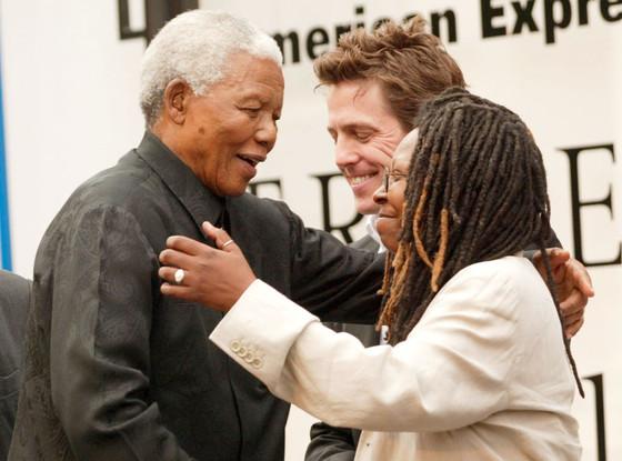 Hugh Grant, Nelson Mandela, Whoopi Goldberg