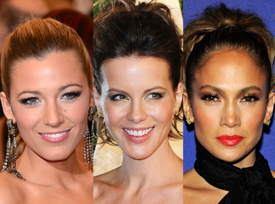 Blake Lively, Kate Beckinsale, Jennifer Lopez, Ponytail
