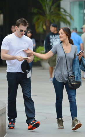 Chris Evans, Minka Kelly