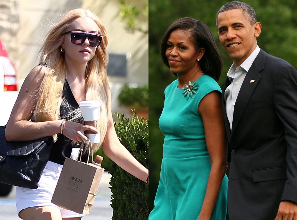 Amanda Bynes, Michelle Obama, Barack Obama