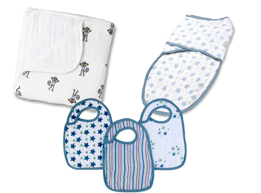 Aden + Anais: Swaddle blanket, Sheets, Bibs