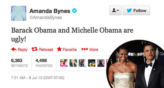 Michelle Obama, Barack Obama, Amanda Bynes