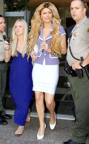 Paris Hilton w/ Wig 2