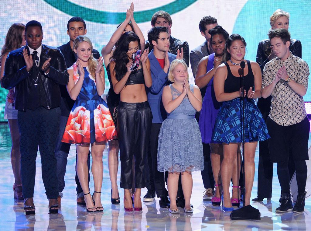 Exclusive Glee Stars Reflect On Lea Michele S Speech E Online