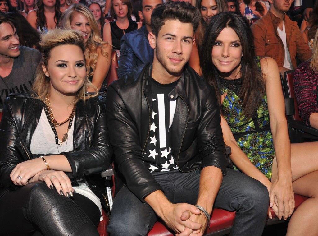 Demi Lovato, Nick Jonas, Sandra Bullock