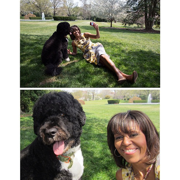 Michelle Obama, Bo, Instagram
