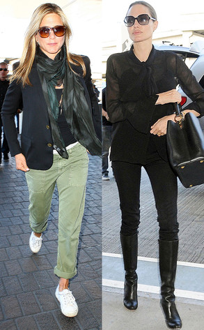 Jennifer Aniston, Angelina Jolie, Airport