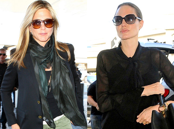 Jennifer Aniston, Angelina Jolie, Airport