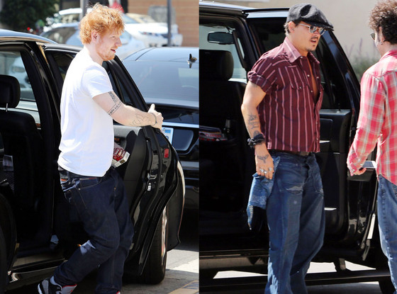 Johnny Depp, Ed Sheeran