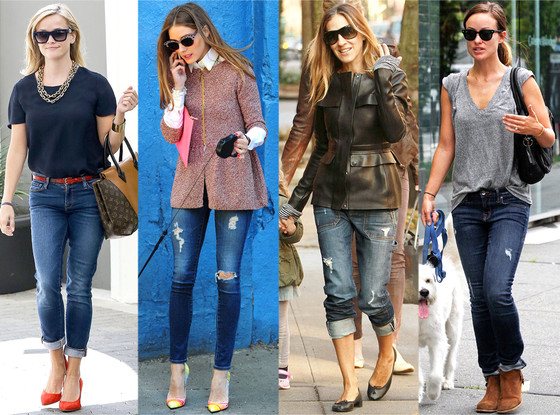 Olivia Palermo, Reese Witherspoon, Sarah Jessica Parker, Olivia Wilde, Celebs in Denim