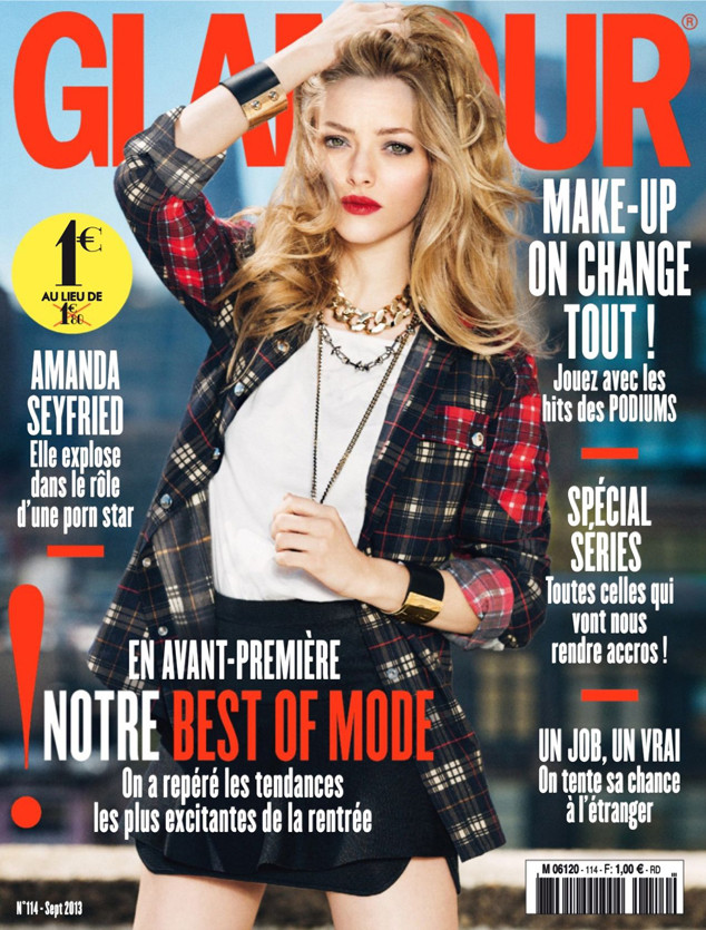 Amanda Seyfried Poses In Punk Inspired Plaid On Glamour France Cover