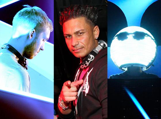 Calvin Harris, DJ Pauly D, Deadmau5