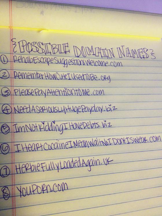 Lindsay Lohan's Domain Names