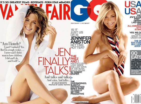 Jennifer Aniston, Vanity Fair Cover, GQ Cover