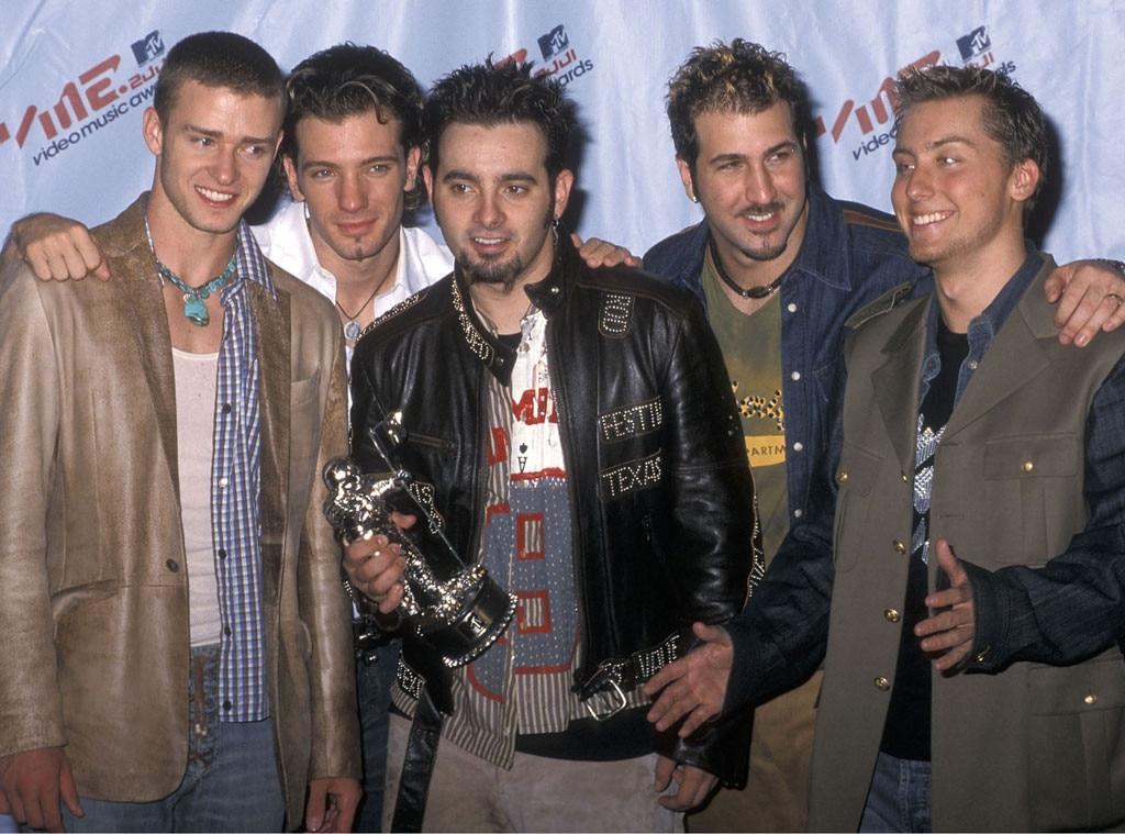NSYNC: Justin Timberlake, JC Chasez, Chris Kirkpatrick, Joey Fatone, Lance Bass, 2001