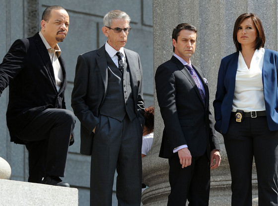 Law & Order: SVU, BTS, Ice-T, Richard Belzer, Raul Esparza and Mariska Hargitay