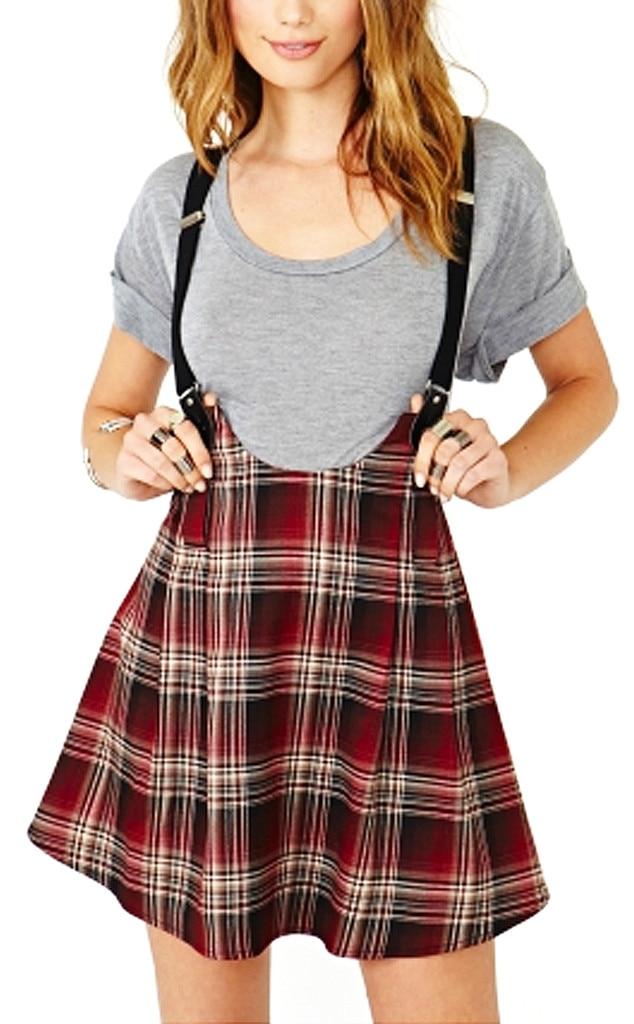 Punk Grunge Trend, Dropout Suspender Skirt