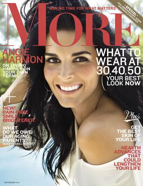 Angie Harmon, More Magazine