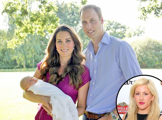 Prince George, Prince William, Duchess Kate Middleton, Ellie Goulding