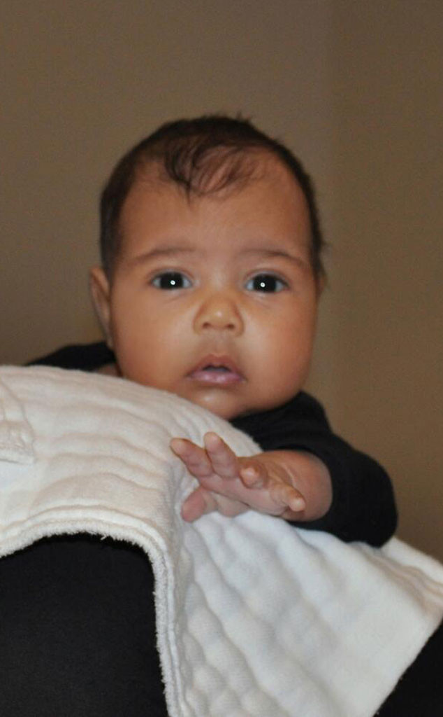 Baby North West, Kim Kardashian, Kanye West