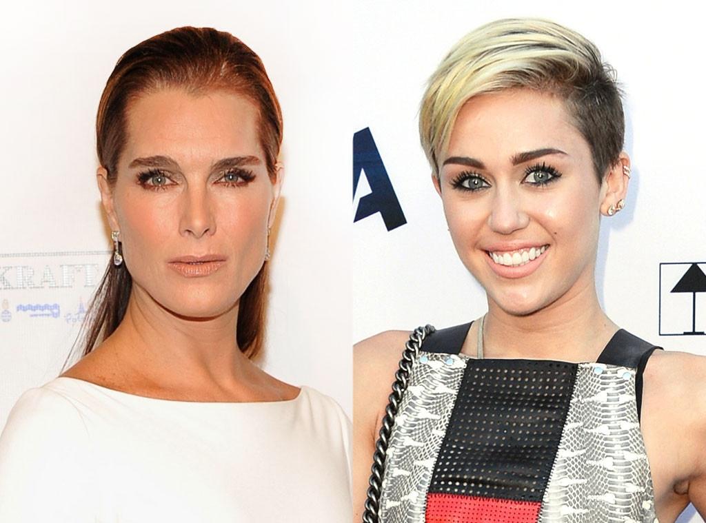 Brooke Shields, Miley Cyrus