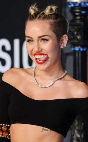 Miley cyrus tongue out