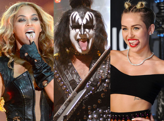 Tongue Split, Gene Simmons, Miley Cyrus, Beyonce