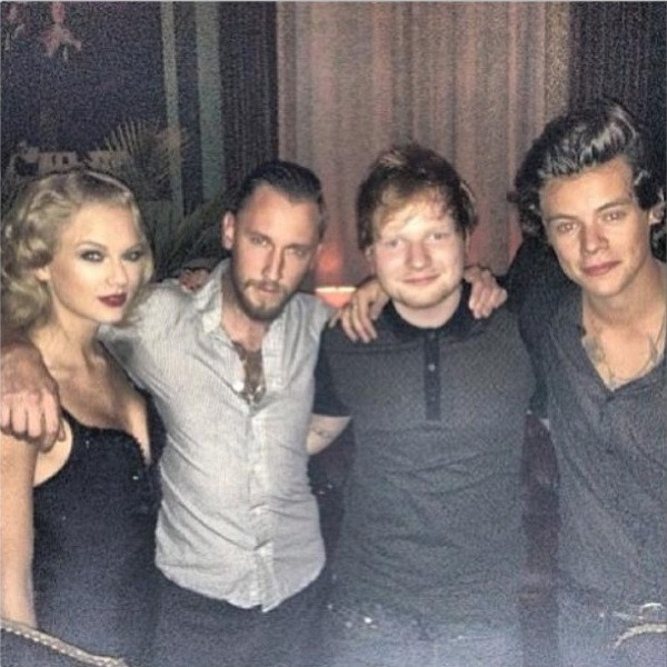 Taylor Swift, Ed Sheeran, Harry Styles, Instagram
