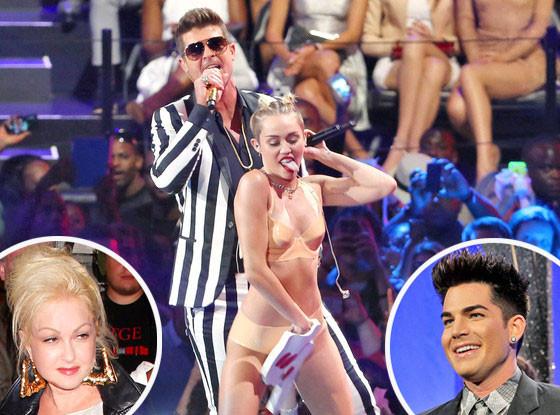 Miley Cyrus, Cyndi Lauper, Adam Lambert