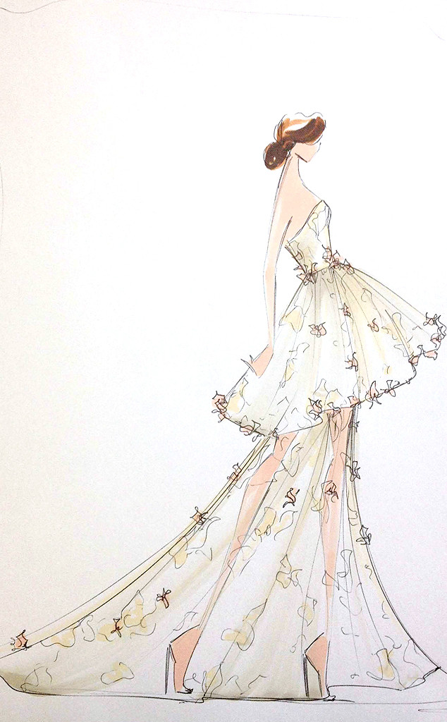 First Look Christian Siriano S Spring 2014 Collection See His Sketches Before Nyfw E Online
