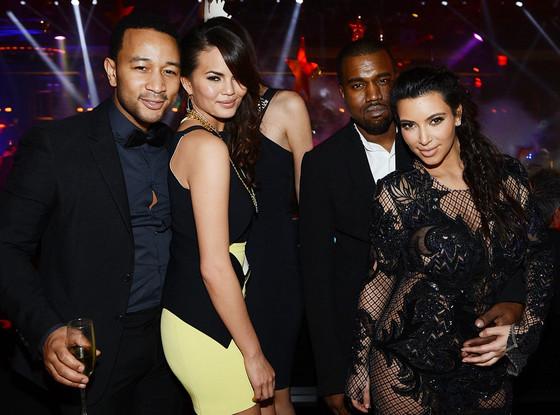 John Legend, Chrissy Teigen, Kanye West, Kim Kardashian