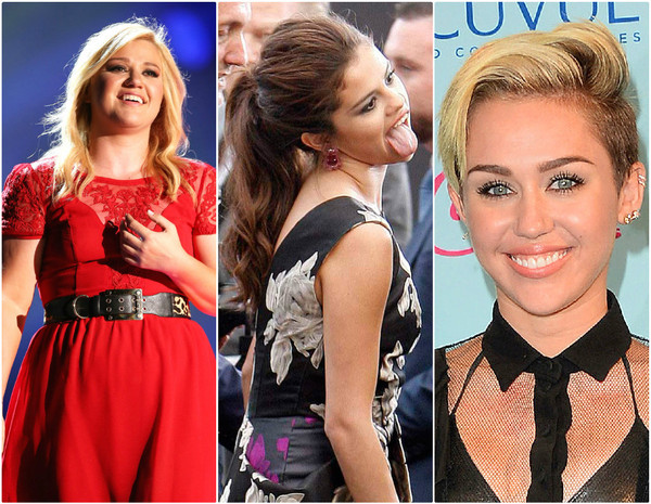 Kelly Clarkson, Selena Gomez, Miley Cyrus