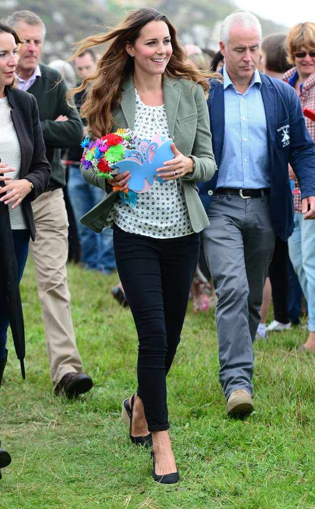 Kate Middleton Wows in Skinny Pants at First Post-Baby Official Appearance—See the Pics!