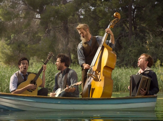 Will Forte, Jason Bateman, Jason Sudeikis, Ed Helms, Mumford & Sons music video