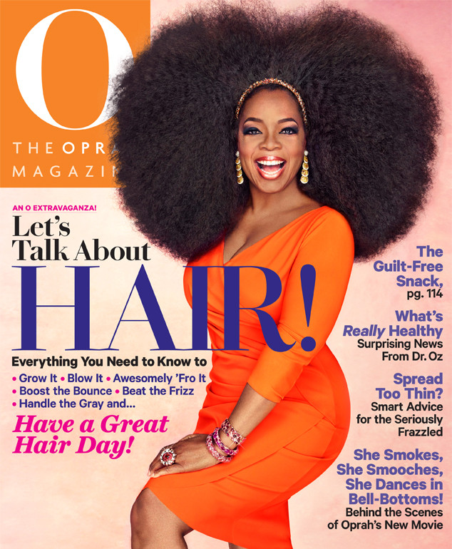 Oprah Shows Off A Sexy Afro On The Cover Of Her Magazinesee The Pic