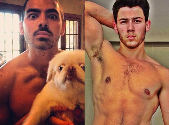 Nick Jonas, Joe Jonas, Shirtless, Instagram