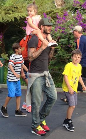 David Beckham, Harper Beckham, Romeo Beckham, Cruz Beckham