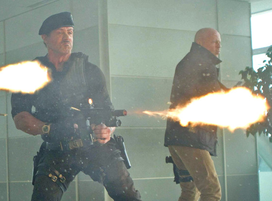 Sylvester Stallone, Bruce Willis, The Expendables 2