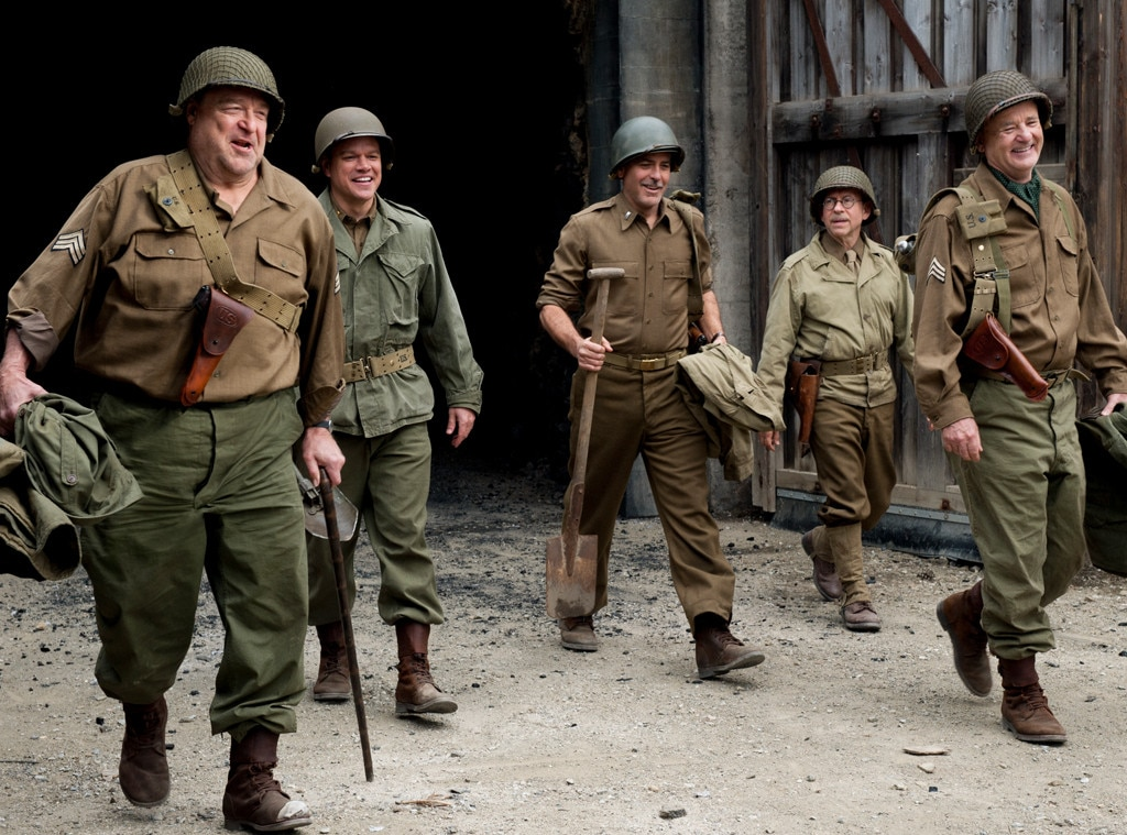 John Goodman, Matt Damon, George Clooney, Bob Balaban, Bill Murray, The Monuments Men