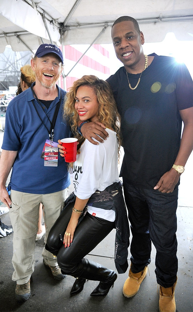 Ron Howard, Beyonce, Jay Z