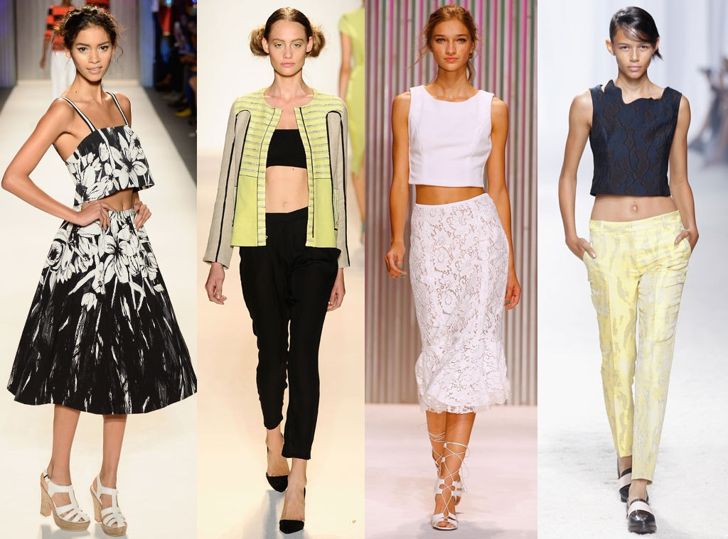 Crop tops trend, New York Fashion Week
