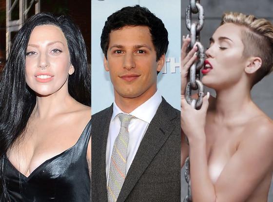 Lady Gaga, Andy Samberg, Miley Cyrus